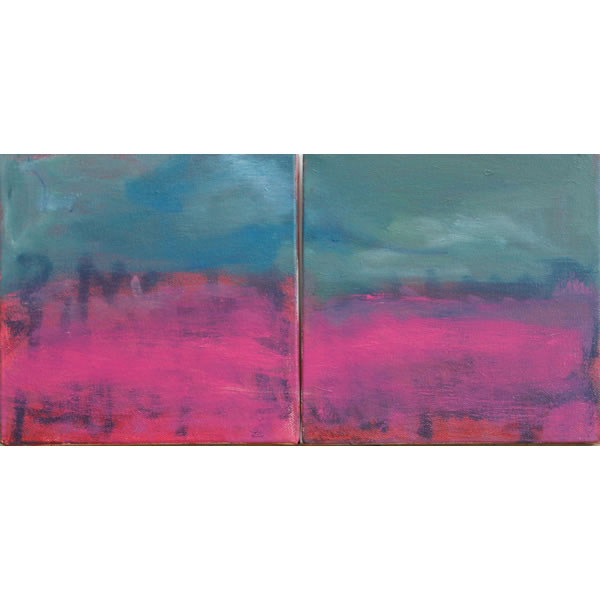 Pink Dawn - Oil on two canvases