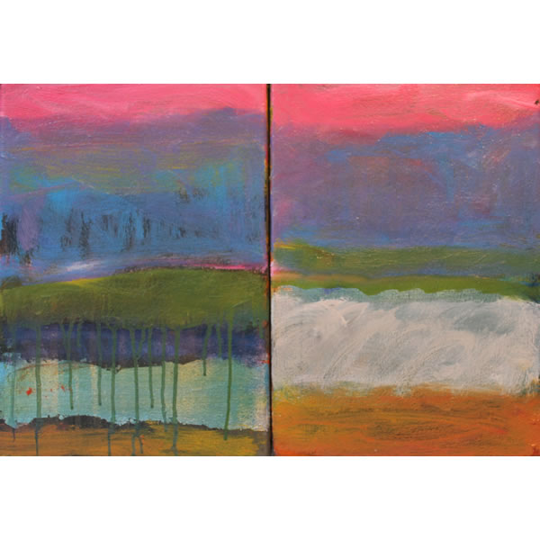 Song for Basho - Diptych oil on canvas
