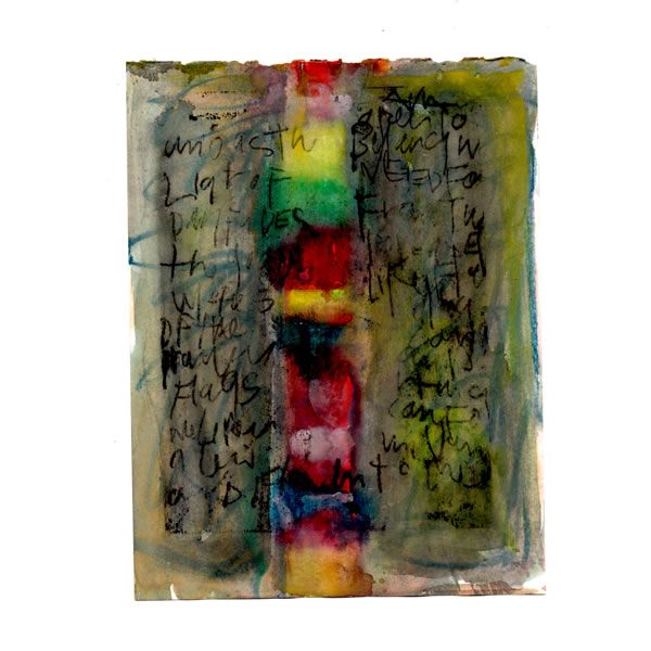 Tower of Babel - Watercolour monoprint