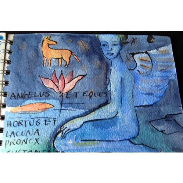 Canis Angelicus - Watercolour and ink