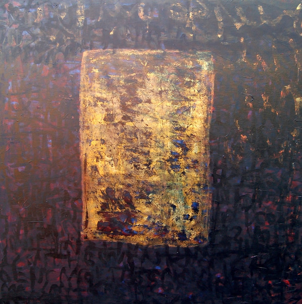 Ikon - Oil and gold leaf on canvas