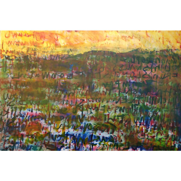 Landscape Songlines - Oil on canvas