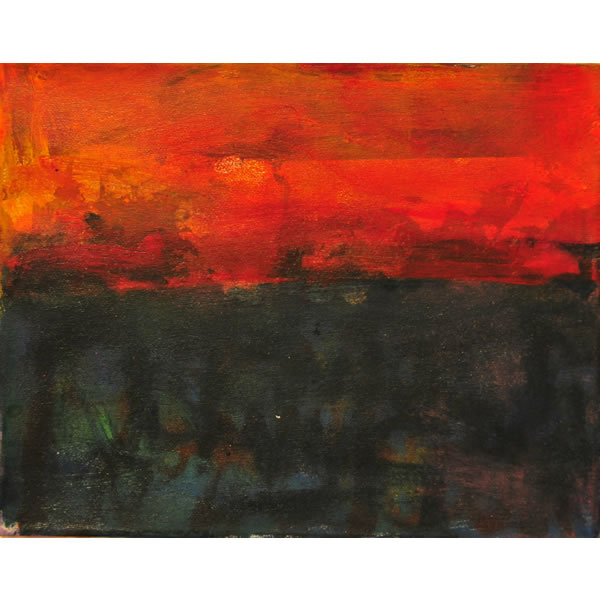 Turner's Search for The Perfect Red no1 - Oil on canvas