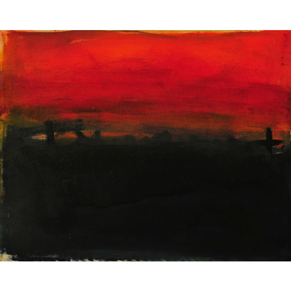 Turner's Search for The Perfect Red no2 - Oil on canvas